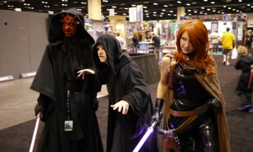 Darth Maul, Emperor Palpatine and Mara Jade - image vis Matthew K Doc_Brown on Flickr