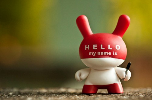 Hello my name is ... 221/365, image courtesy Robert Occhialini on Flickr