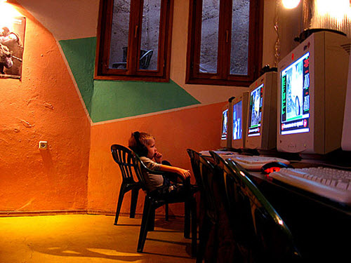 Internet Cafe, Bulgaria, courtesy Flickr.com user Uros Velickovic