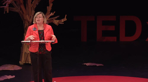 Mary Stein presents for TEDxLSU, image courtesy TEDxLSU on Flickr