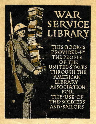 World War I, War Service Library Bookplate, 1918, image courtesy William Creswell on Flickr