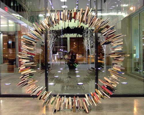 Book Sculpture, image courtesy Gwen's River City Images on Flickr