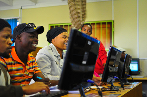 Youth technology training in South Africa, image courtesy Beyond Access on Flickr
