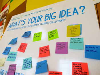 Big Ideas coming in! image courtesy Calgary New Central Library on Flickr