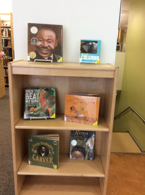 Photo of book display by Suzi Wackerbarth