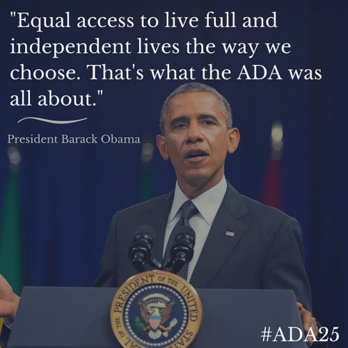 Image: President Obama on ADA courtesy of Exchanges Photos on Flickr