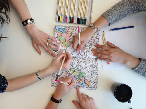 Color When You Can Calming Colors Club for Adults! We supply the adult  level coloring pages and colored pencils; please feel free to bring snacks  for you or ...