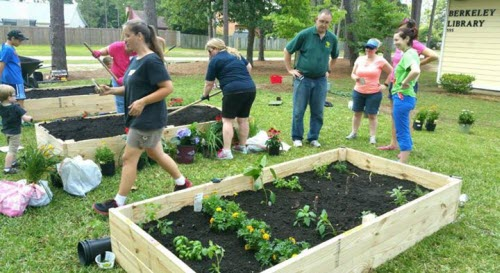 People gardening, image courtesy Berkeley County Library System