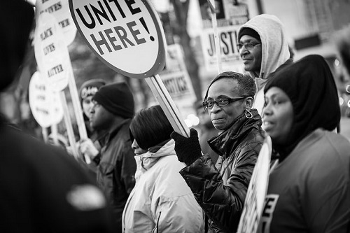 Black Lives Matter demonstrators in Baltimore (MD). Photo by Dorret, CC by 2.0