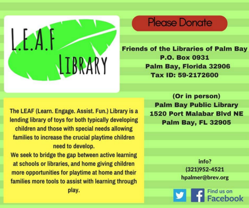 Image courtesy Brevard County Palm Bay Library on Facebook