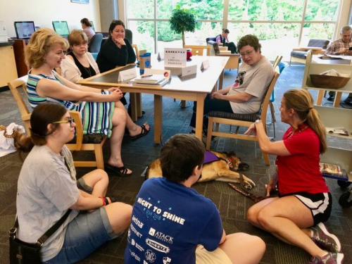 Photo of Next Chapter Book Club meeting at Henrico County Public Library (VA), used with permission.