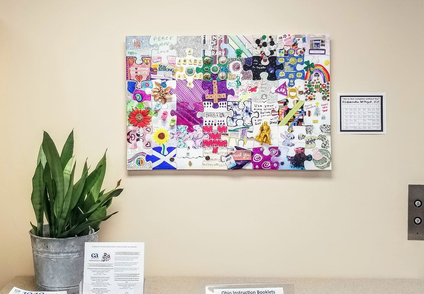 We're Not Complete Without You: A Collaborative Puzzle Art Project