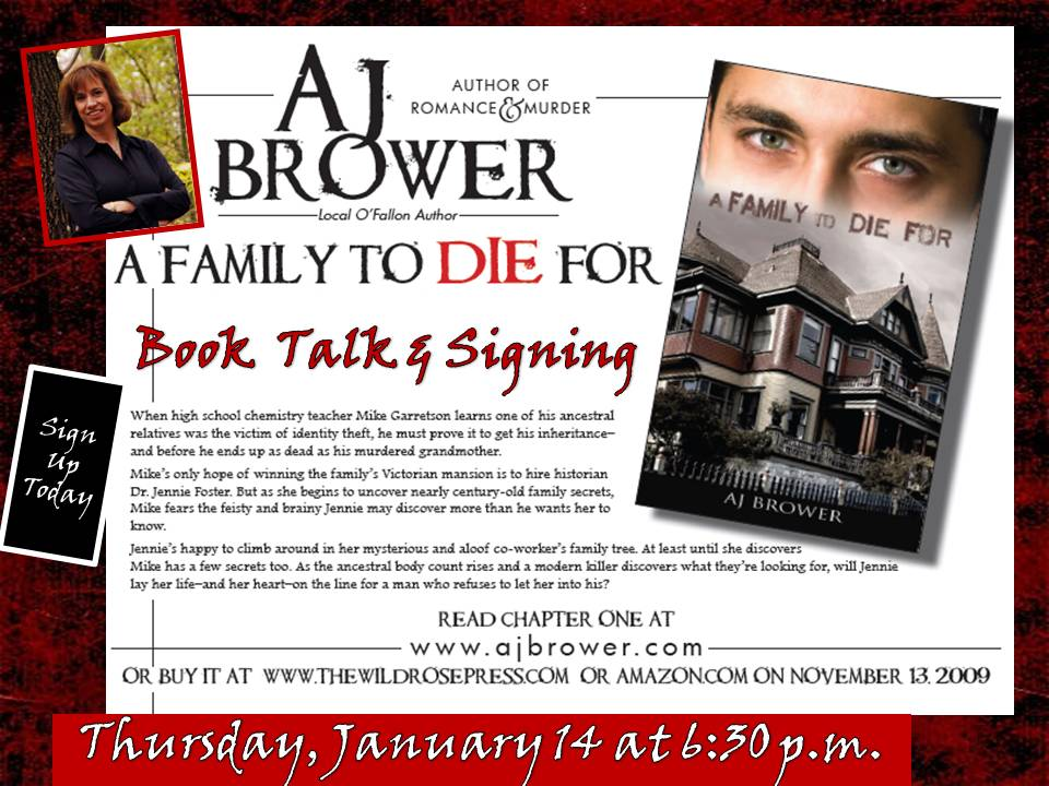 A.J. Brower Booktalk And Signing  Flyer Examples