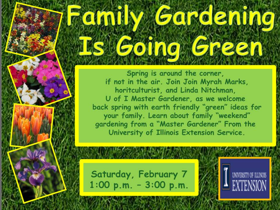 Family Green Gardening  Examples Of A Flyer