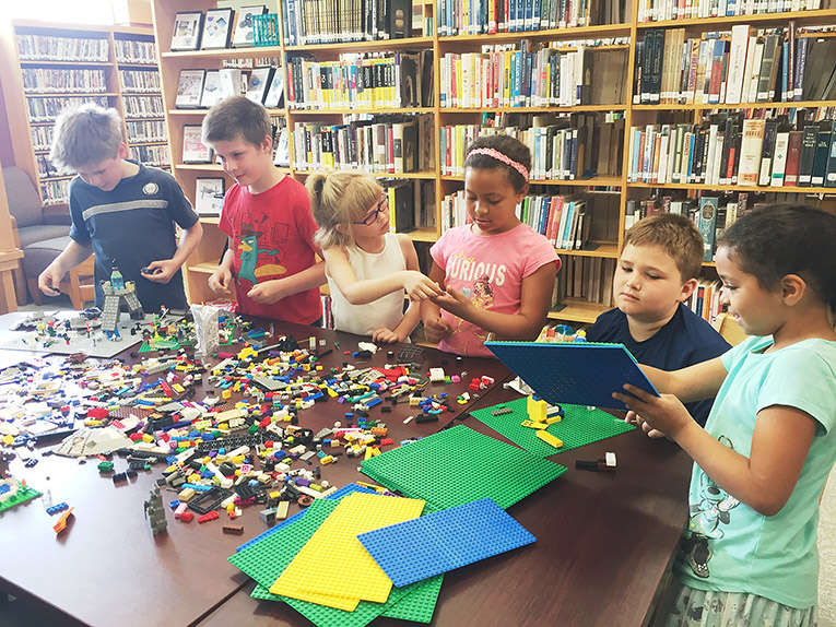 Photo: Lego program in the James Kennedy Public Library (IA) Smart Space; used with permission
