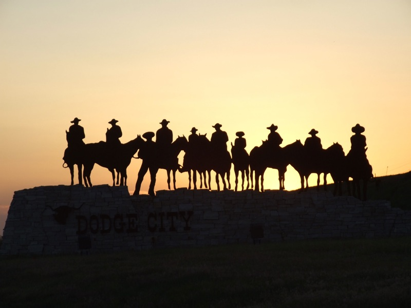 Cowboy sign near Dodge City, courtesy of Joseph Novak on Flickr