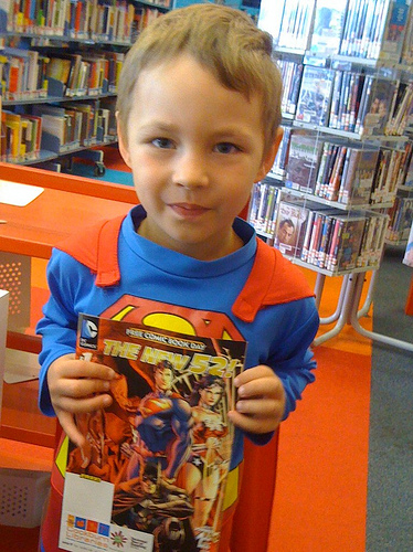 Superman Ben with his own comic via Cockburn Libraries on Flickr