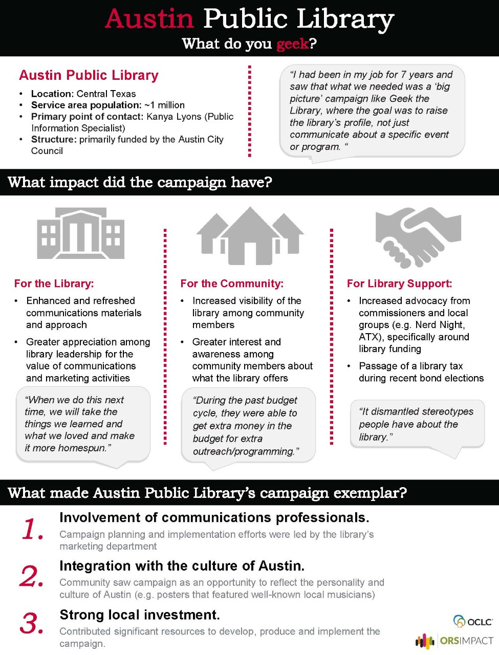 Summary of Austin Public Library case study