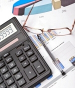 Calculator and checkbook