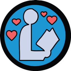 Bookworm badge mockup by Justin Grimes @justgrimes