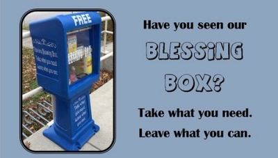 Photo of Blessing Box as shared on Social Media
