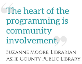 """The heart of the programming is community involvement."""