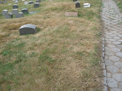 Photo of unmarked grave of Woolson Morse