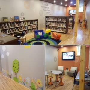 Glenns Ferry Library after transformation
