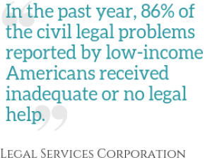 quote from the Justice Gap report