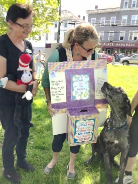 "a mobile ""Think-A-Think"" suggestion box at the pet parade"